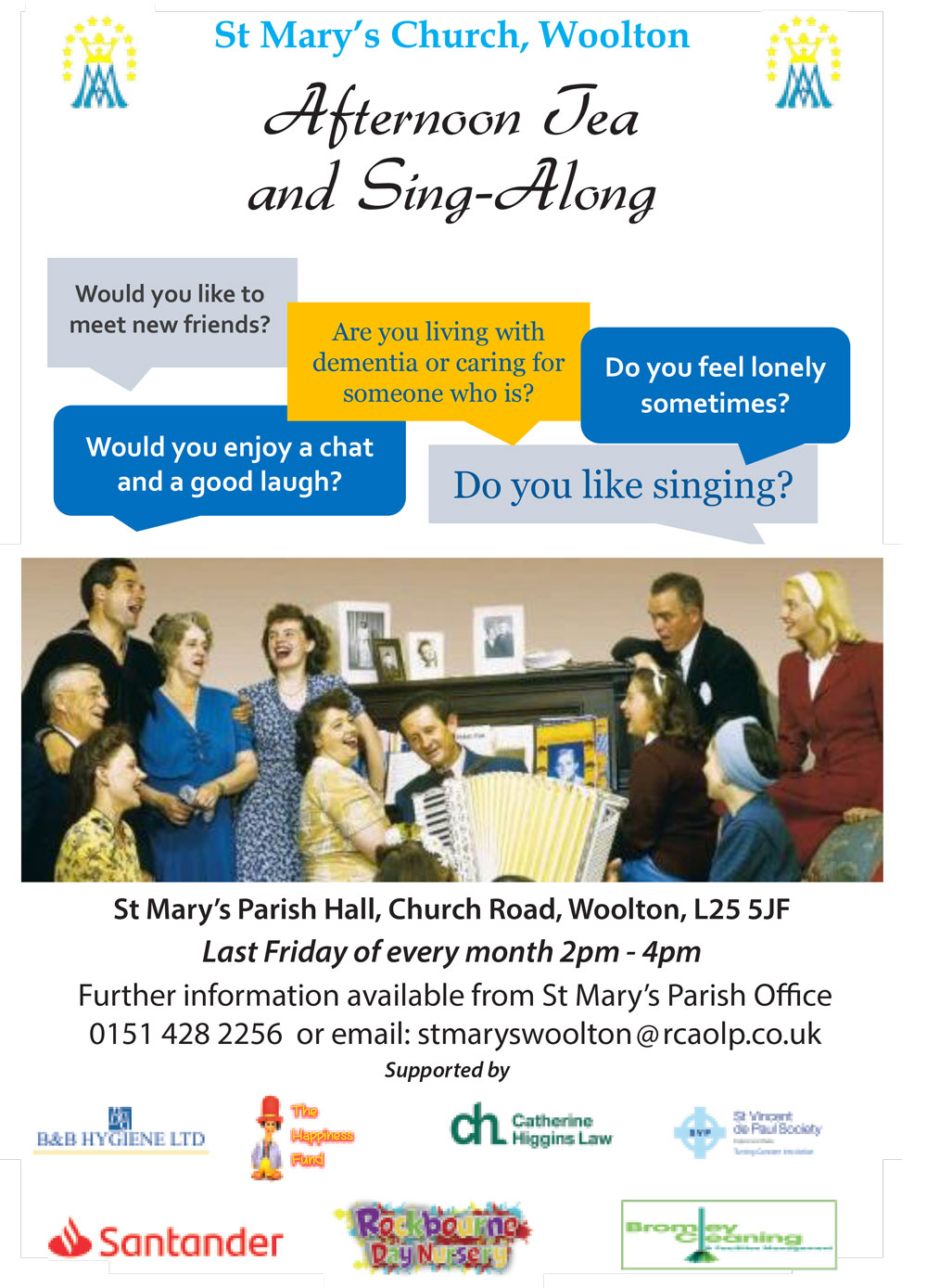 2019 ST MARYS AFTERNOON TEA AND SINGALONG 1